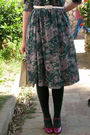 Green-thrift-dress-pink-m-s-shoes