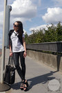 Black-coated-jeggings-dorothy-perkins-jeans-black-tote-jane-norman-bag