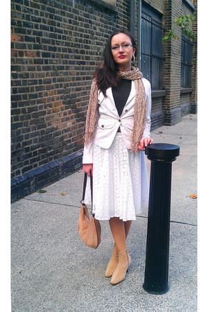 nude corduroy Street Life boots - white Junona blazer