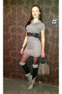 Black-socks-periwinkle-asos-boots-heather-gray-zen-dress-heather-gray-bag