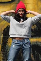 H&M sweatshirt - Target jeans - Forever 21 hat - Charlotte Russe heels