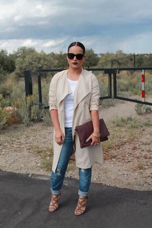 H&M coat - Target jeans - Forever 21 bag - Forever 21 heels