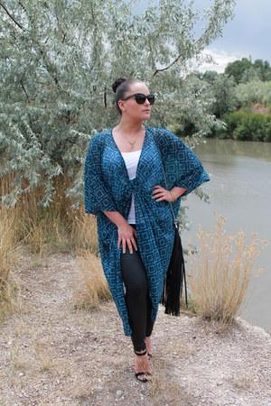 H&M dress - Forever 21 leggings - GoJane heels