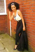 black George At Asda shoes - black H&M leggings - black vintage blazer - pastich