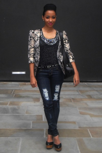 Miss Selfridge jacket - Office Shoe shoes - Brazilian Jeans jeans - Republic top
