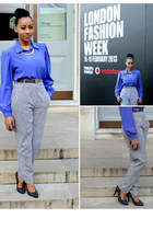 vintage pants - vintage blouse