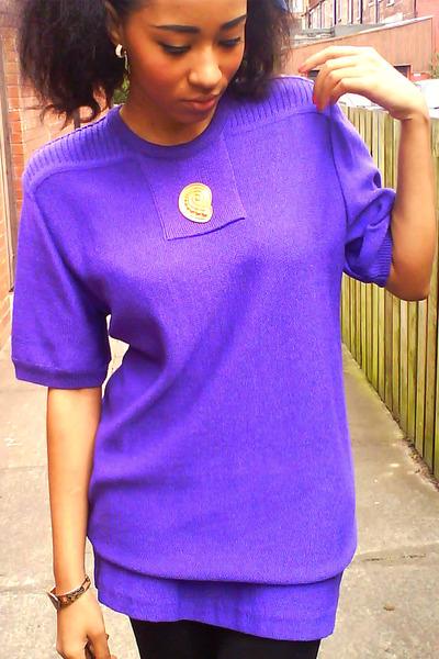 deep purple vintage jumper
