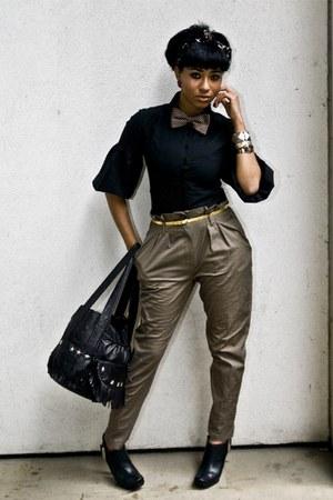 Aldo boots - Debenhams shirt - flea market bag - Olicouk pants - vintage tie - v
