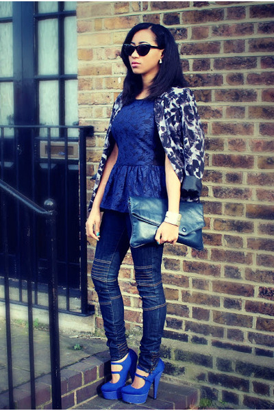 Primark jacket - TK Maxx jeans - KG Carvela heels