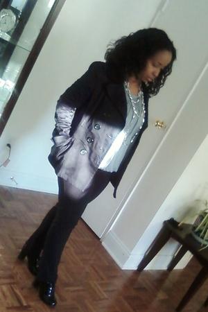 jacket - blouse - jeans - shoes - necklace