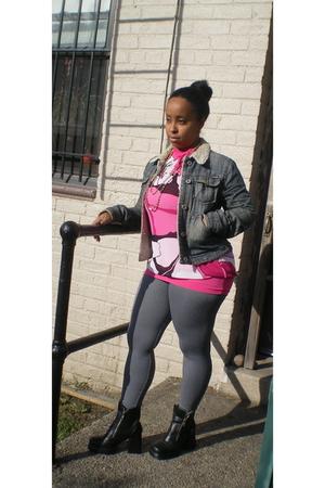 blouse - - leggings - boots -