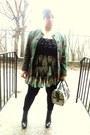 Boots-dress-leggings-blazer-bag