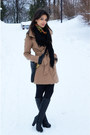 Black-monton-boots-camel-tally-weijl-coat-vintage-scarf