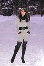 Black-shirt-silver-motivi-cardigan-black-moda-donna-boots-black-belt