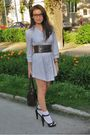 White-h-m-dress-brown-belt-brown-tally-weijl-shoes-brown-richmond-purse-