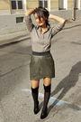 Amisu-skirt-mexx-shirt-aldo-boots-socks