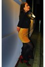 Red-shoes-h-m-skirt-red-global-accessories-purse-black-monton-blouse-bla