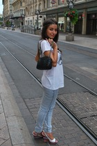 Zara accessories - Zara top - Only jeans - handmade accessories