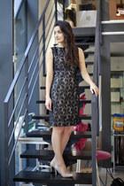 black lace Perit Muuga dress - neutral next heels