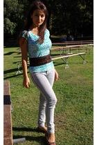 H&M t-shirt - Only jeans - boots - belt - Omega bracelet