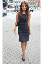 black H&M dress - black Graceland shoes - black H&M blazer