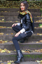 black MORGAN jacket - black Tally Weijl leggings - white H&M shirt - black Valle