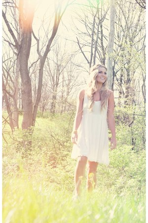white LuckyB Boutique dress - LuckyB Boutique hair accessory