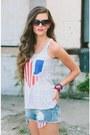 Blue-lucky-b-boutique-shorts-black-lucky-b-boutique-sunglasses