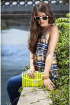 orange Lucky B Boutique sunglasses - blue Lucky B Boutique jeans