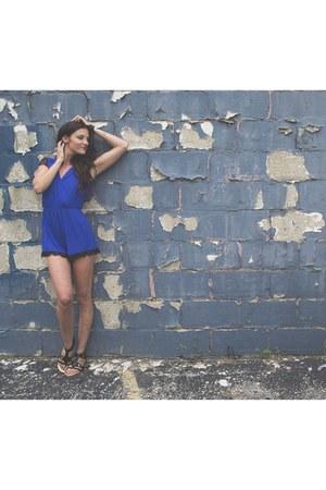 black Lucky B Boutique sandals - blue Lucky B Boutique jumper