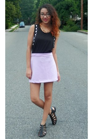 muscle Forever 21 shirt - caged LuLus shoes - pastel Forever 21 skirt