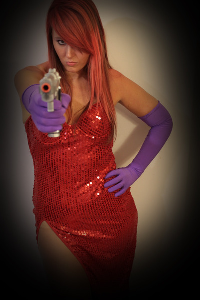 red sequined costume dress - red gets everywhere hair chalk hat