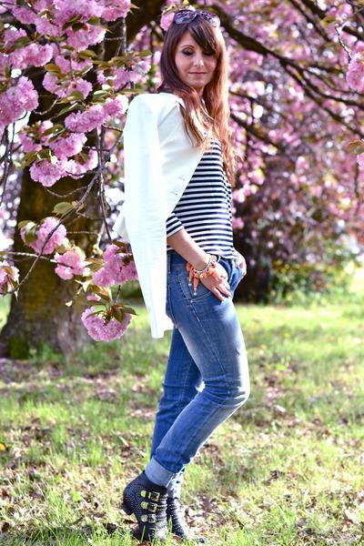 black Jeffrey Campbell boots - light blue Sexy Woman jeans - black COS blouse