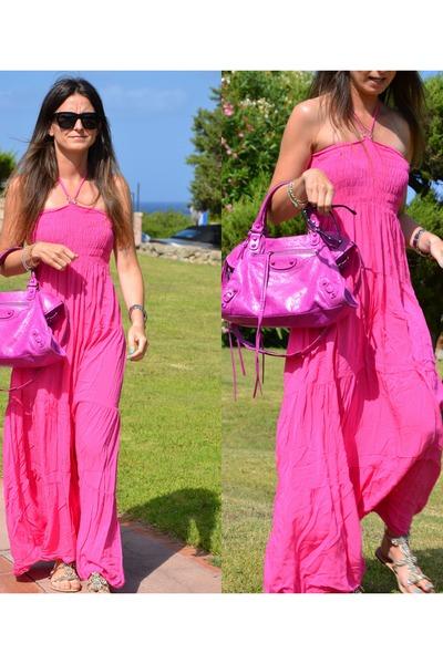 Cotton No Brand Dress Leather Bag Balenciaga Celine Sungl