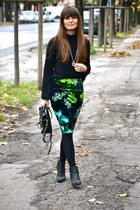 green pencil skirt asos skirt - black Giuseppe Zanotti boots