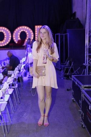 H&M purse - Sheinside dress - She Likes sandals