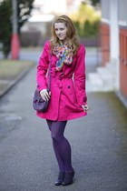 Tally Weijl scarf - Deichmann shoes - Jannis coat - Orsay tights - reno bag