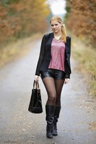 threadsence top - Deichmann boots - Forever 21 blazer - Zara bag