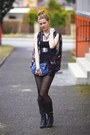 Deichmann-boots-calzedonia-tights-avon-bag-new-yorker-shorts-zara-top