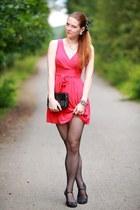 red WalG dress