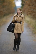 Zara belt - Deichmann boots - Tally Weijl coat - Zara bag