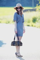 humanic shoes - New Yorker dress - Bershka hat - bag - Louis Vuitton sunglasses