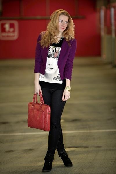 H&M blazer - Aldo bag