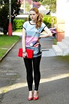 Terranova t-shirt - New Yorker shoes - Stradivarius leggings - H&M purse