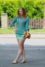 Zara-shoes-romwe-sweater-h-m-purse-new-yorker-shorts