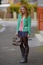 Tally-weijl-jumper-5th-avenue-boots-new-yorker-bag-new-yorker-shorts