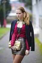 Forever 21 shirt - F&F blazer - H&M purse - Charlotte Russe skirt