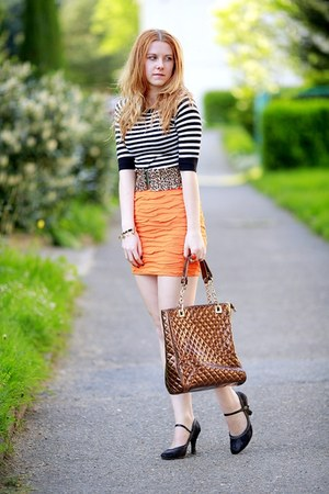 Zara skirt - Domi bag - SIX belt - H&amp;M top