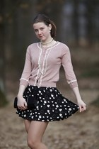 light pink with pearls New Yorker cardigan - black CCC shoes