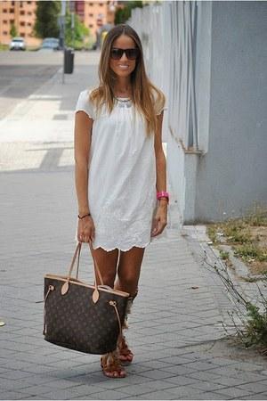 Zara dress - Louis Vuitton bag